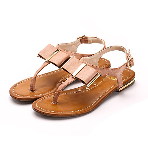 Image of Alexis Leroy Women's Adjustable Ankle Strap Slingback Sandals Flats Thongs