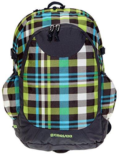 CEEVEE Schulrucksack ETON XL Rucksack mit Laptopfach [41 x 28 cm] Vogue + Trinkflasche CO2 / CARO GREEN