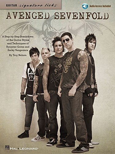 Avenged Sevenfold: A Step-By-Step Breakdown of the Guitar Styles & Techniques of Synyster Gates and Zacky Vengeance (Guitar Signature Licks) Bk/online audio [Avenged Sevenfold] (Tapa Blanda)