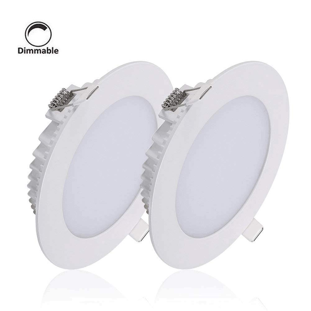 B right led recessed lighting 6 inch dimmable led slim pot lights 18w bottom glow super bright led downlight 5000k daylight 2 pack