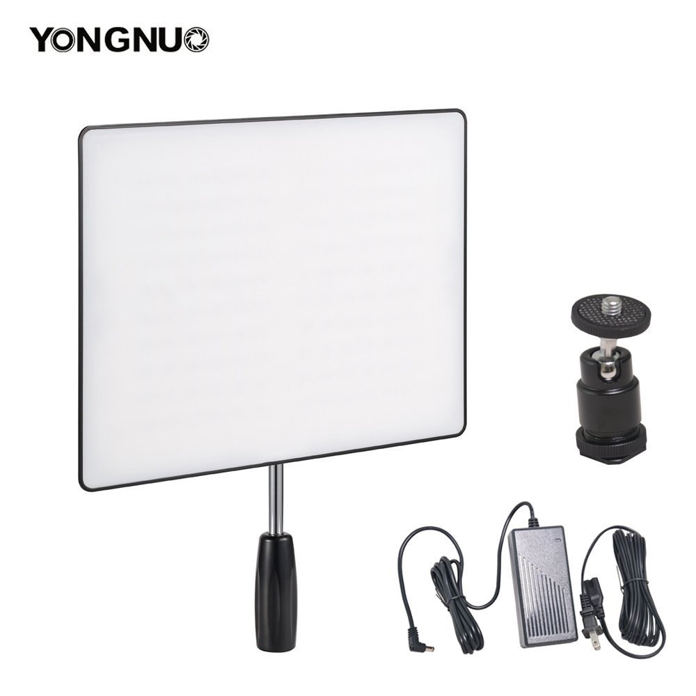 Yongnuo YN600 Air Camera / Camcorder LED Video Light CRI95+ 5500K Portable Continuous Lamp + 60W Power Supply and Ball Head for Canon Nikon Sony Panasonic Wedding Interview Youtube Studio Panel