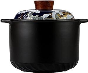 Earthenware Clay Pot Casserole Pot Soup Stew Pot Casserole Soup Pot Dry Boil No Crack National Trendy Style Red-4L