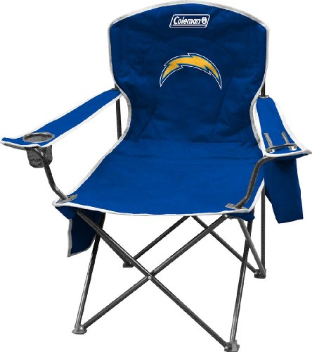 NFL Portable Folding Chair with Cooler and Carrying (San Diego Chargers Collapsible)