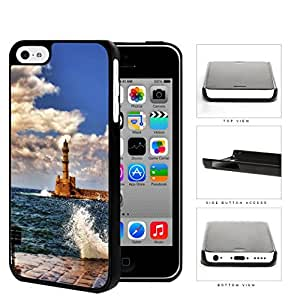 Seaside Lighthouse With Water Splashing View Hard Plastic Snap On Cell Phone Case Apple iPhone 5c