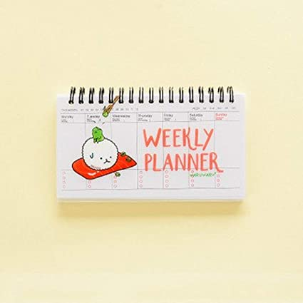 Amazon.com : Cute Kawaii Cartoon Weekly Planner Coil ...