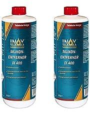 INOX® IX400 Siliconenverwijderaar, 2 x 1 liter, universele reiniger voor het losmaken en verwijderen van siliconen, vet, olie en was