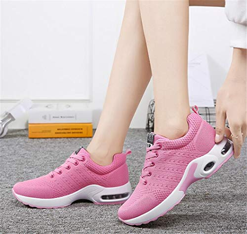 Gym Sneakers Sports Outdoor Mogeek Loisirs Mixte Course Chaussures Rose Basses Adulte Fitness De Athlétique wqwczfBUg