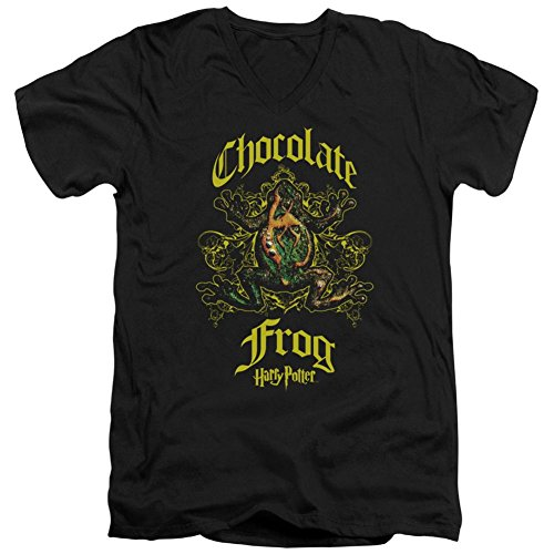 Harry Potter- Chocolate Frog Crest V-Neck T-Shirt Size M