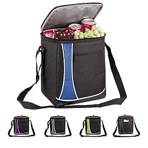 Bolsa térmica Vivo grande para comida y bebida de picnic, camping, almuerzos, festivales, compras, viajes, pesca, senderismo, para el coche, capacidad para 18 latas, 11l., azul