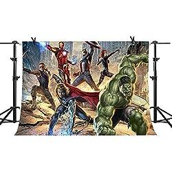MME Backdrop 7x5ft Cartoon Avengers Alliance Seamless Vinyl Photo Studio Props GYMM194