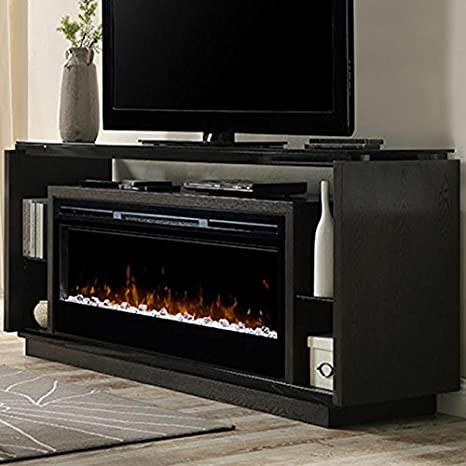 Awesome Dimplex Electric Fireplace Tv Stand Media Console Space Heater And Entertainment Center With Glass Ember Bed Set In Smoke Finish David Interior Design Ideas Helimdqseriescom