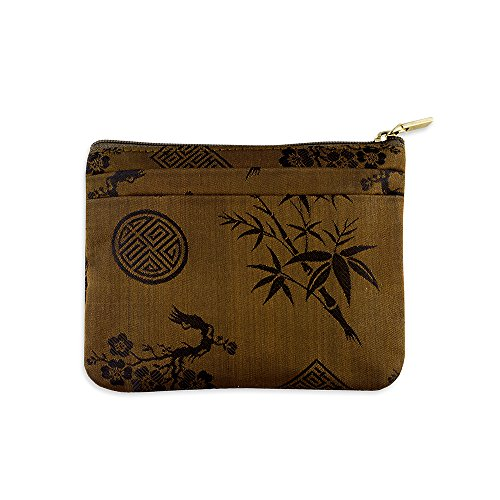 Zip Wallet - Silk Jacquard (Rustic Copper) - Copper Womens Handbag