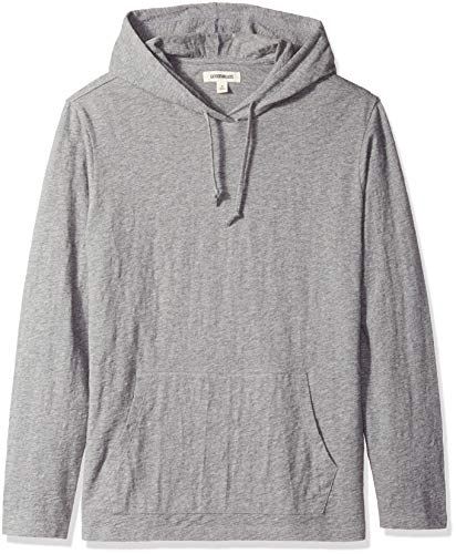 - Goodthreads Men's Lightweight Slub T-Shirt Hoodie, Heather Grey, X-Small