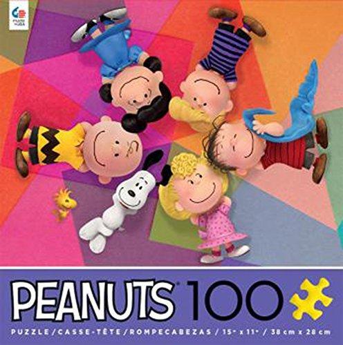 Ceaco Peanuts Movie Circle of Friends 100 Piece Puzzle - Brown Snoopy Puzzle
