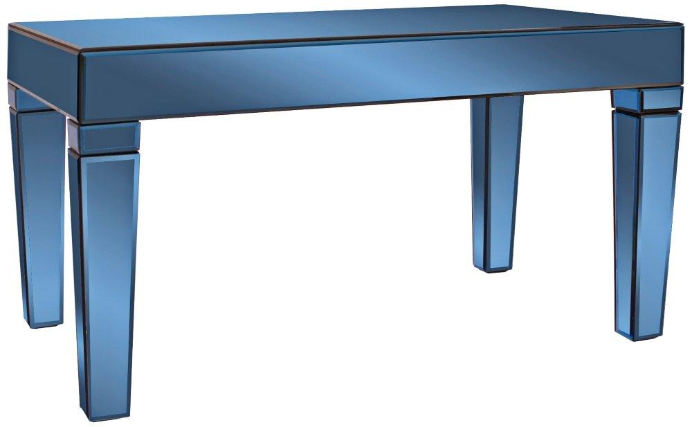 Amazon Com Howard Elliott 11175 Dorset Mirrored Coffee Table Cobalt Blue Kitchen Dining