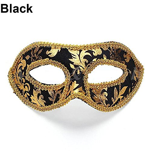 Quietcloud Men's Classic Foiled Costume Eye Mask Masquerade Party Cosplay Fancy Ball (Masked Ball Outfit)