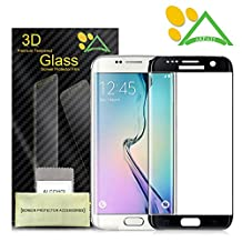 Galaxy S6 Edge Screen Protector, Akpati Full Coverage 3D Curved Tempered Glass Clear Anti-Bubble Film [Full Coverage][Case Friendly][Anti-Scratch] for Samsung Galaxy S6 Edge - Black