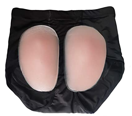 ae2aaeba5 RosinKing Women Silicone Hips Butt Lifter Enhancer Underpants Firm Oval Padded  Underwear Removable Silicon Pads Fake