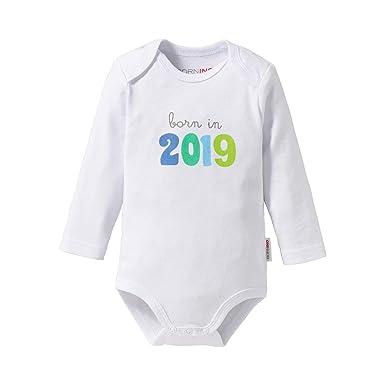 Bornino Body à Manches Longues Born in 2019 bébé  Bornino  Amazon.fr ... 7215fc47600