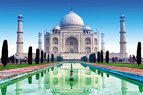 Great Art Taj Mahal Wall Decoration - Wonder of The World Wallpaper Indian Monument Mural India Culture Colors (55 Inch x 39.4 Inch/140 cm x 100 cm) (Wallpaper Indian)