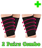 HealthyNees 2 Pairs Combo Thigh Leg Compression Slimming Toning Massaging Effect Look Slimmer Improve Circulation Sleeve