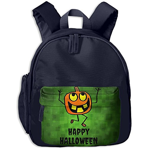 Pumpkin Happy Halloween Kid's School Bags Adjustable Shoulder Backpack For School And Travel Time