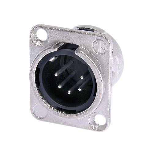 Neutrik NC5MD-L-1 5-Pole Male Receptacle, Nickel/Silver Contacts