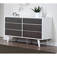 Madrid Light Charcoal 6 Drawer Dresser