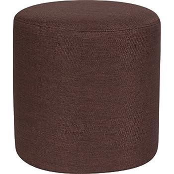 Swell Amazon Com Emma Oliver Taut Upholstered Round Ottoman Inzonedesignstudio Interior Chair Design Inzonedesignstudiocom