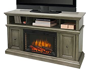 "Amazon.com: Muskoka 370-148-205 McCrea 53"" Media Dark Weathered Grey Finish Electric Fireplace: Home & Kitchen"