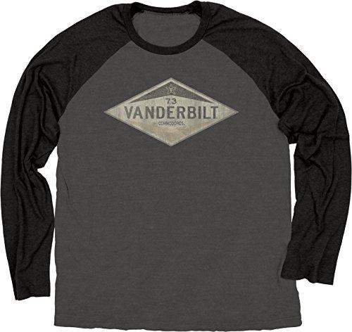 (NCAA Vanderbilt Commodores Ring Spun Long Sleeve Raglan Tee, XX-Large, Black)