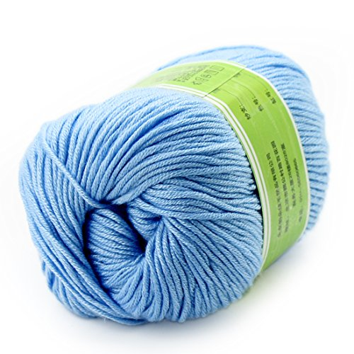 - joylve Knitting Yarn Skein Baby Super Smooth Worsted Soft Natural Silk Wool Fiber Sliver