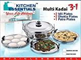 Kitchen Essentials Induction Steamer Cooker Kadai(2idli,2Dhokla,1PatraPlate)