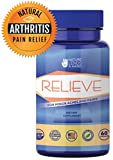 RELIEVE Natural Arthritis Pain Relief with Turmeric and MSM – Natural Pain Reliever for Arthritis Relief, Lower Back Pain Relief, Hip Pain Relief, Neck Pain Relief, Knee Pain Relief, Joint Pain Relief