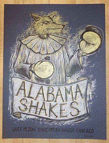 2016 Alabama Shakes - Chicago I Silkscreen Concert Poster by Dan (Alabama Silk)