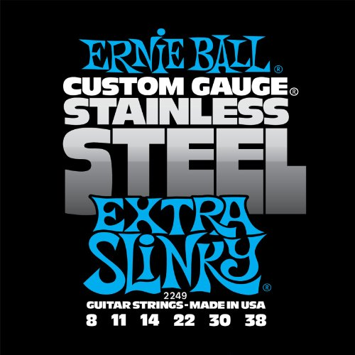 Ernie Ball Stainless Steel Extra Slinky Set, .008 - .038