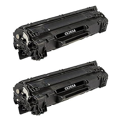 Do it Wiser Compatible Black Toner Cartridge for HP LaserJet Pro M1214 NFH M1216 NFH M1217 NFW M1217NFW MFP M1219NF P1102 P1102W P1415NW M1212F M1212NF M1213NF - 85A CE285A - 2 (Hp 85a Black Toner)