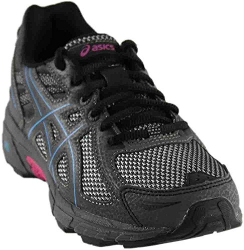 ASICS Women's Gel-Venture 6 Running-Shoes, Black/Island Blue/Pink, 8 B(M) - Fashion Stores Island