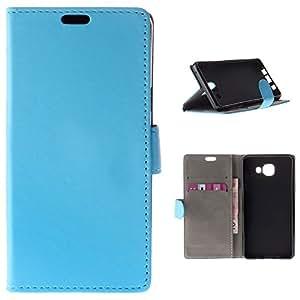 BeCool® - Funda carcasa tipo Libro para Samsung Galaxy A5 2016 protege tu Smartphone ya que se adapta a la perfección, tiene Función Soporte, ranuras para tus tarjetas y billetes sin olvidar nuestro exclusivo diseño Azul
