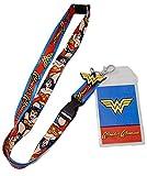 #4: Bioworld DC Comics Wonder Woman Logo Charm Breakaway Lanyard