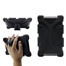 """CHINFAI® Universal Tablet Case, 7""""-7.9"""" Shockproof Silicone Rubber Case Cover with Stand for Samsung Galaxy Tab 4 / RCA 7"""" Voyager II / Amazon Kindle / Google Nexus 7 / Tab 3 Lite and more (Black)"""