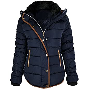 Amazon.com: Fashion Thirsty Women's Quilted Hooded Winter