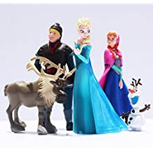 5 Pcs/Set Snow Queen Princess Anna Elsa Action Figure Kristoff Sven Olaf PVC Model Dolls Collection Birthday Gift Kids Toys