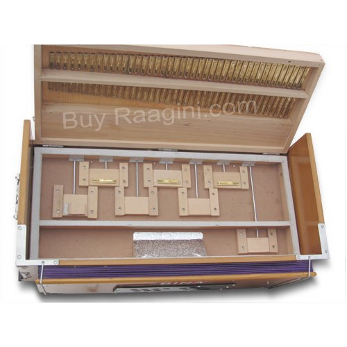 Harmonium, Musical Instrument, BINA No. 9A, In USA, 3 1/2 Octaves, 7 Stops, Standard, Tuned To A440, Natural Color, Coupler, Special Double Reeds, Bag, Book, (PDI-AGE) by Bina (Image #7)