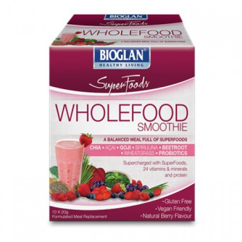 Bioglan Superfoods Wholefood Smoothie Berry 10 x
