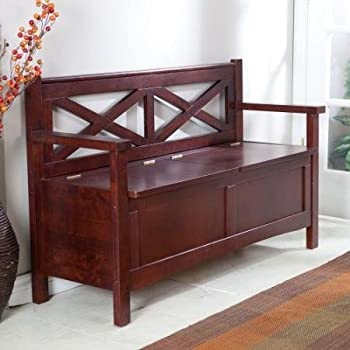 Harper X-Back Storage Bench