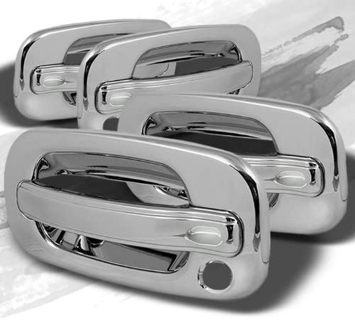 MaxMate 00-06 GMC Yukon//99-06 Sierra//07 Classic//99-06 Chevy Silverado//07 Classic//00-06 Suburban//Tahoe Chrome 2 Doors Handle Cover W//O Passenger Side Keyhole