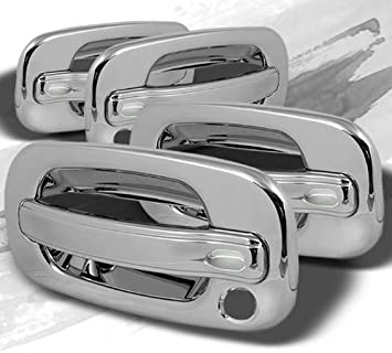 FOR CHEVY TAHOE//SILVERADO//SUBURBAN 00~06 CHROME DOOR HANDLE COVER 4DRS