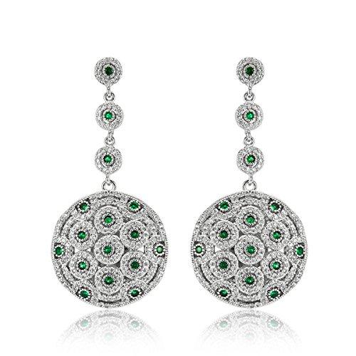 Shaze Rhodium Plated Style Diva Earrings For Women Gift for Her Birthday Christmas Gift for Her by shaze