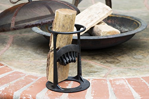 Inertia Wood Splitter - Cast Iron Manual Log Splitter - No Sharp Edges - No More Axes! Safest Way to Cut Firewood